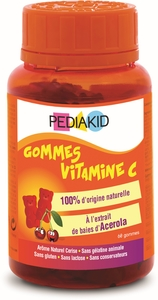 Pediakid Gummies Vitamines C 60 Gommes A Mâcher