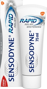 Sensodyne Rapid Relief Whitening Dentifrice 75ml