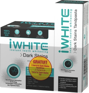 Iwhite Dark Stains Kit + Dentifrice 75ml Gratuit