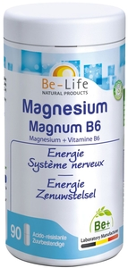 Be-Life Magnesium Magnum B6 Energie - Système Nerveux 90 Capsules