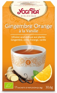 Yogi Tea Gingembre Orange Vanille Bio 17 Sachets