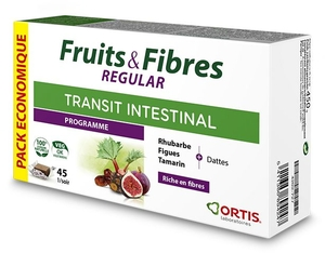Ortis Fruits & Fibres Regular Ecopack 45 Cubes