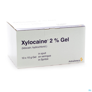 Xylocaine Gel Seringue 10x10g 2%