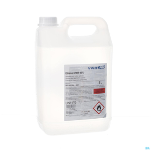 Ethanol VWR 96% Solution pour Application Cutanée 5L