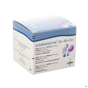 Gammadyn Zinc (Zn) Nickel (Ni) Cobalt (Co) Ampoules 30x2ml Unda